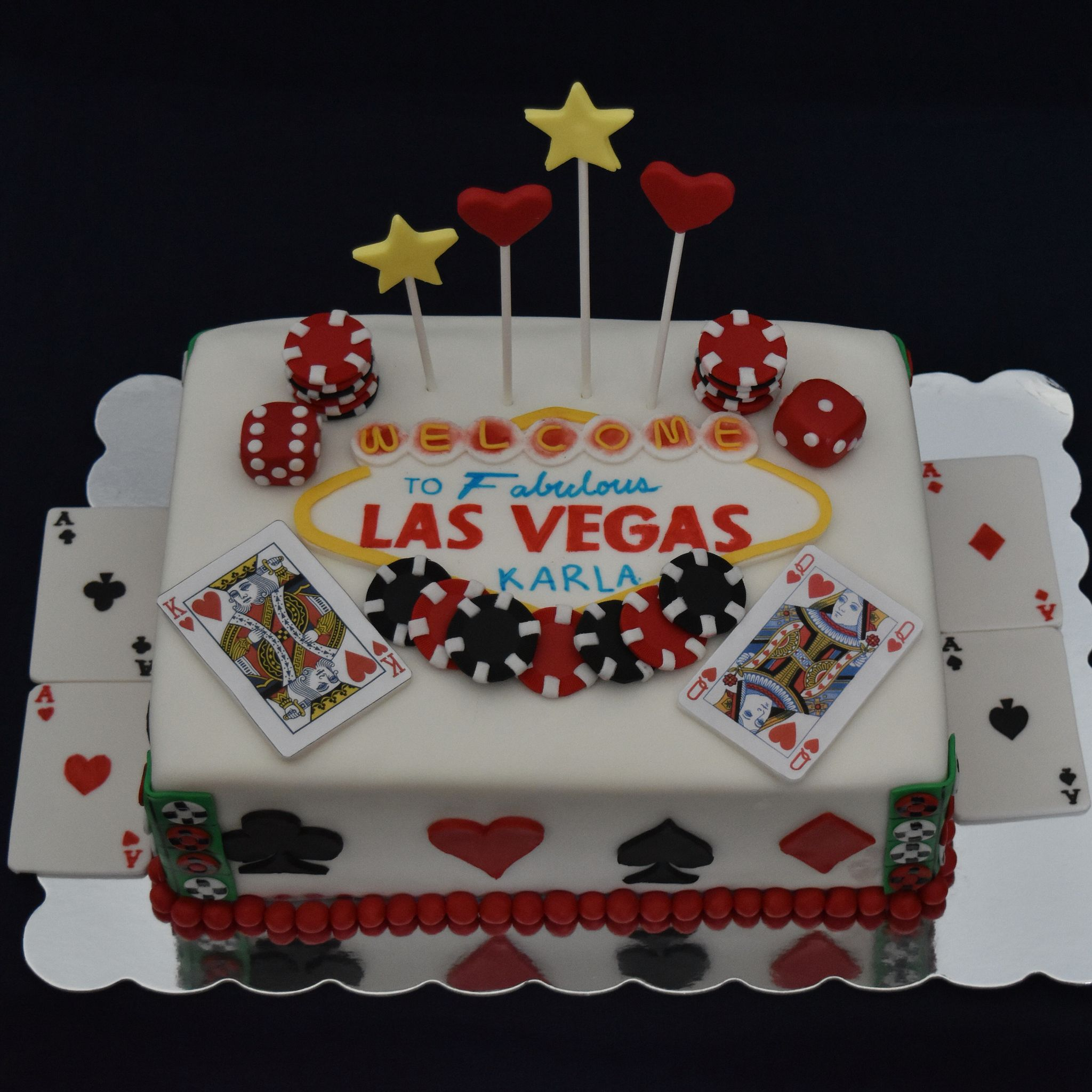 Las Vegas Themed Birthday Cake Vegas Cake Themed