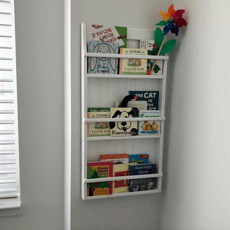 Hanging Wall Bookshelf Plate Rack Wall Mounted Plate Display Etsy Wall Hanging Bookshelf Hanging Bookshelves Wall Bookshelves