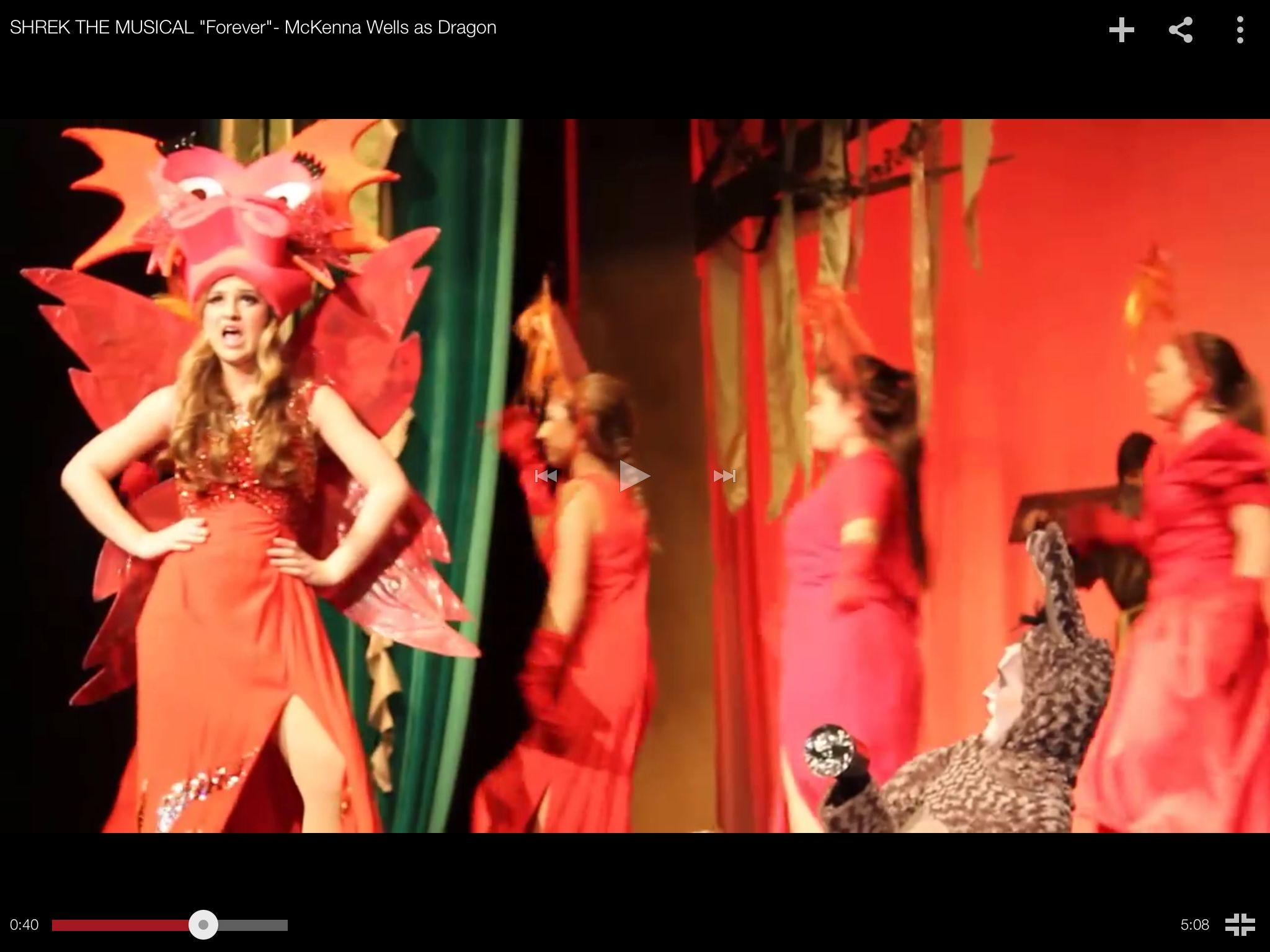 Dragon singer and dragonettes.