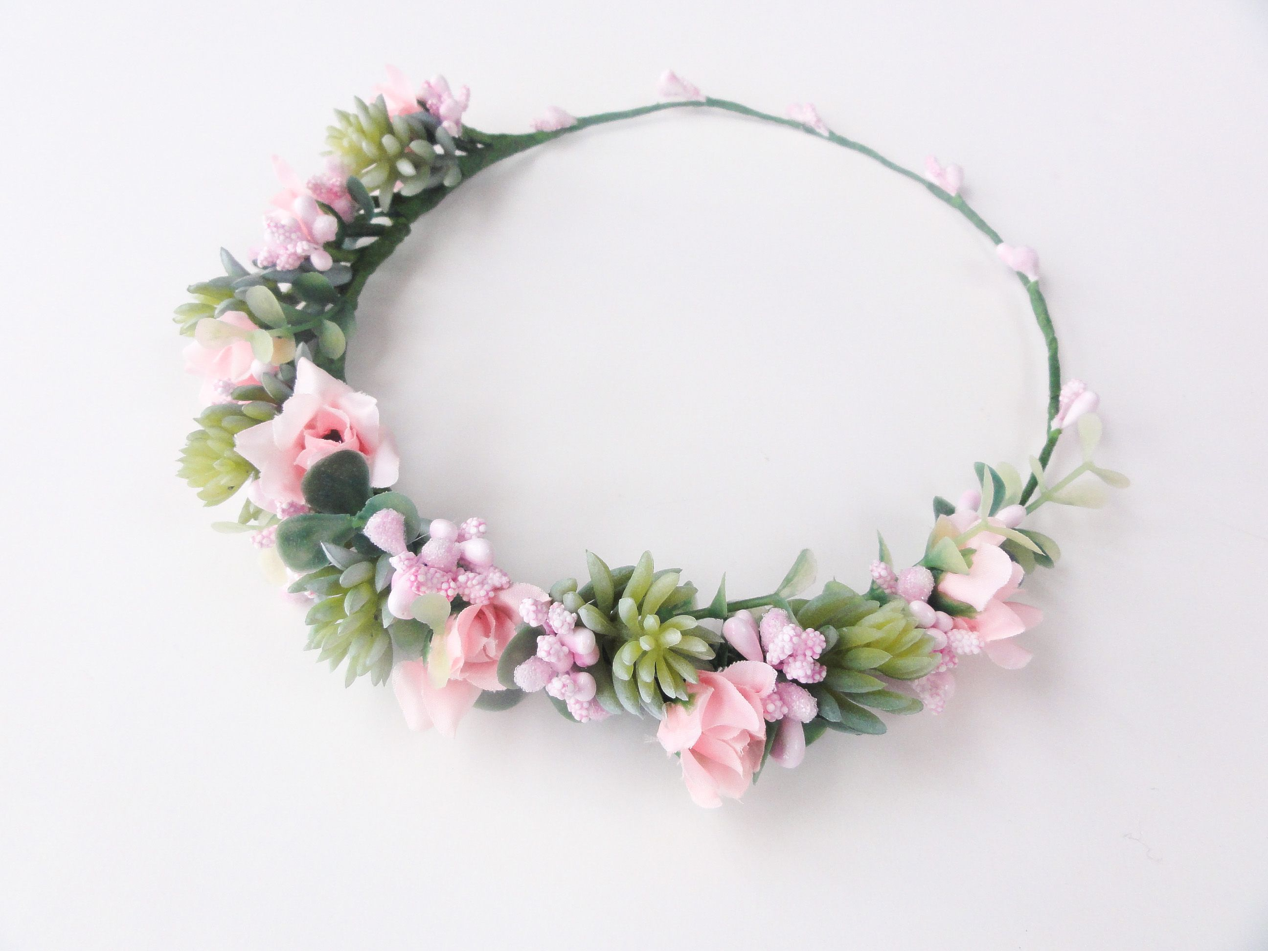 Kitchen Tea Flower Crown | Pretty in pink & aloes for Cindy\'s ...