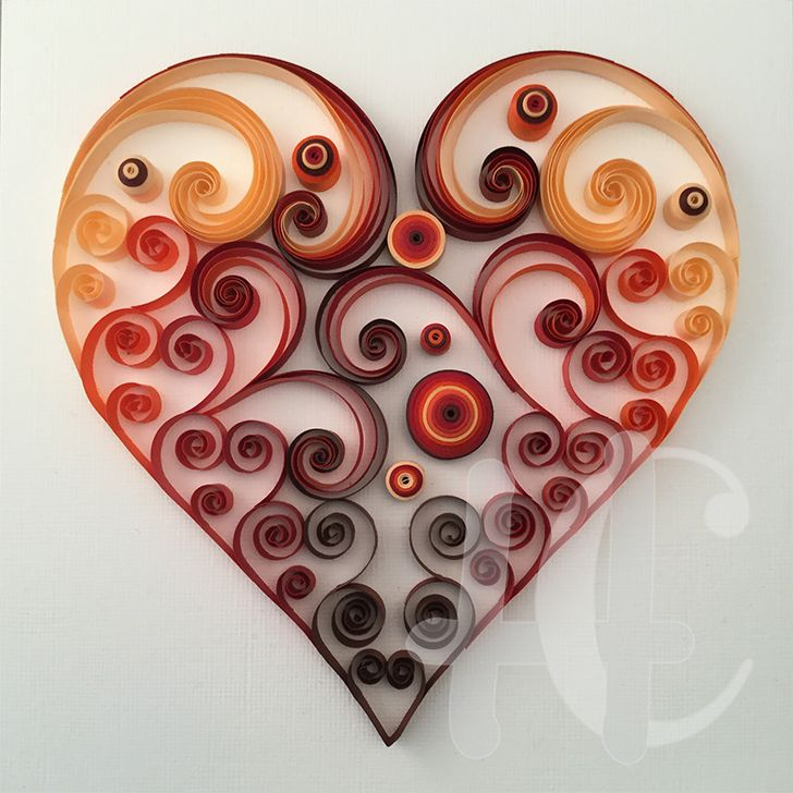 Quilling heart quilling hearts pinterest quilling for Paper quilling paper