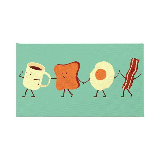 Breakfast March Kitchen Rug   dotandbo.com