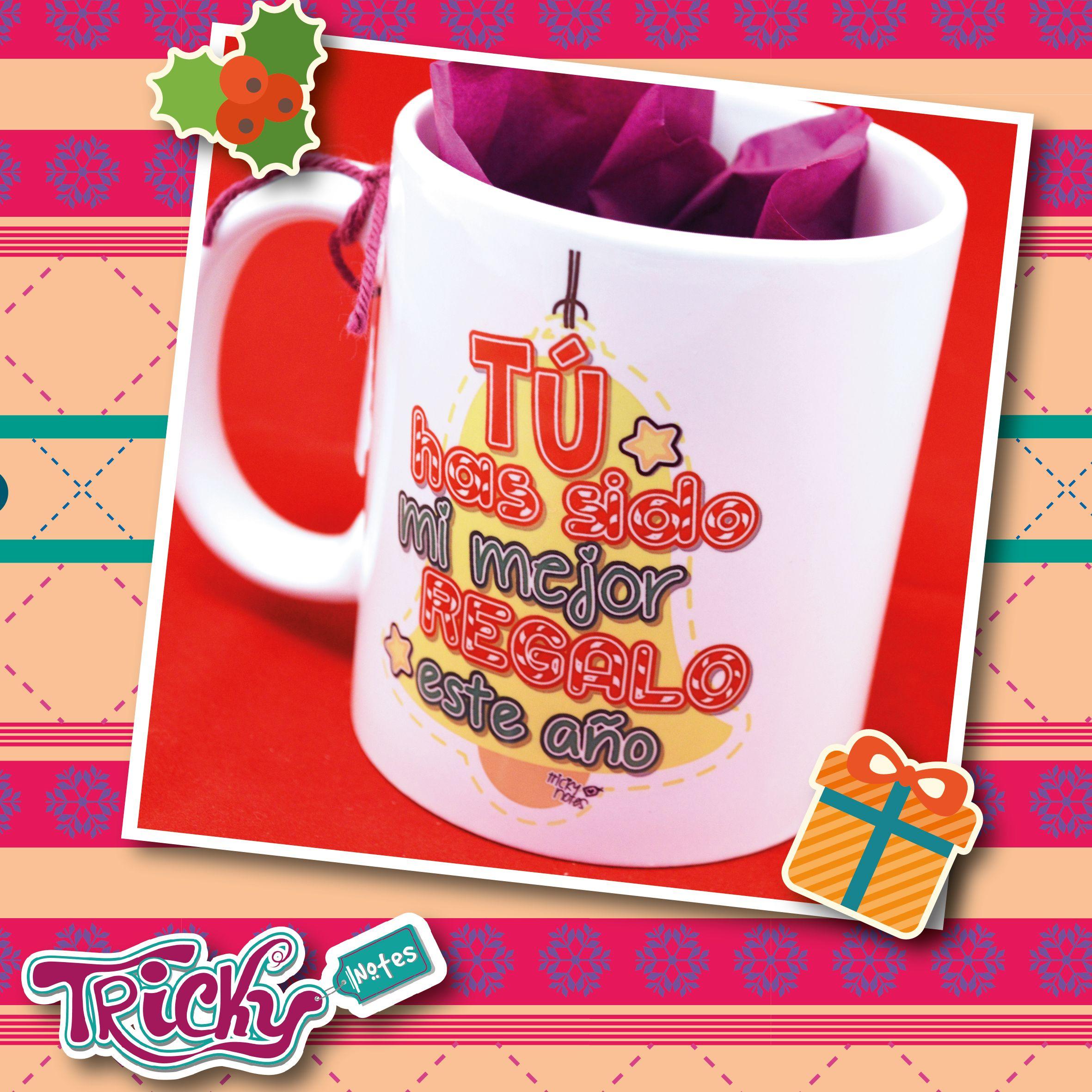 Hermoso detalle con una linda #taza #navideña de #TrickyNotes