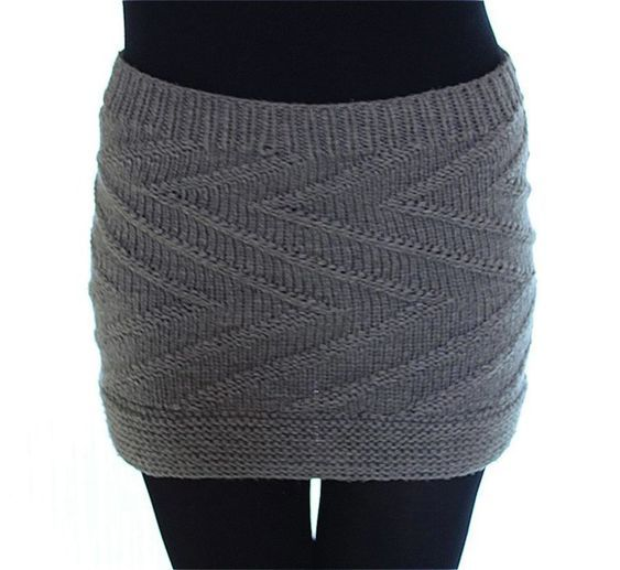 Photo of Easy: Knit Zigzag Mini Skirt | maschentext.de
