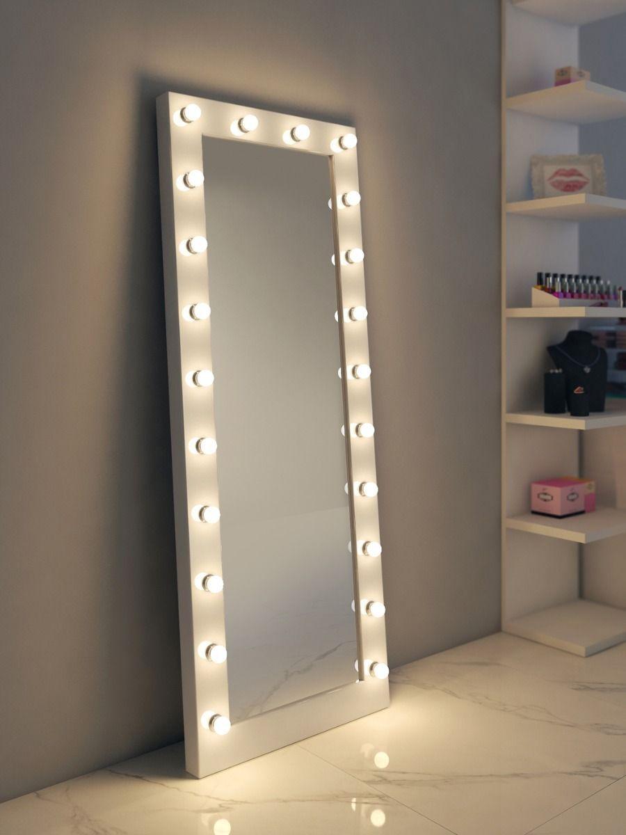 Anastasia White High Gloss Mirror Tall Light Mirrors Mirror Bedroom Decor Big Mirror In Bedroom Makeup Room Decor