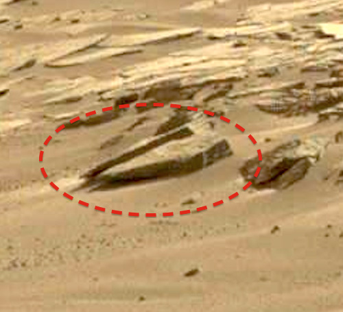 Ancient carved structure near nasa mars rover february
