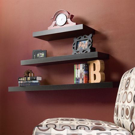 Tiered ascending wall shelves. Nifty. Peachy keen. Insert 50's slang here. -D