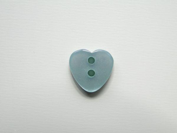 Kunststof knoop, hartje, cyaan, 12mm