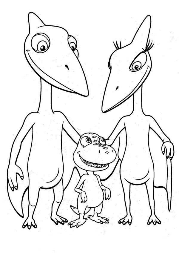 Buddy With Mr And Mrs Pteranodon Tinys Parent In Dinosaurus Train Coloring Page Coloring Sun In 2020 Train Coloring Pages Dinosaur Coloring Dinosaur Coloring Pages