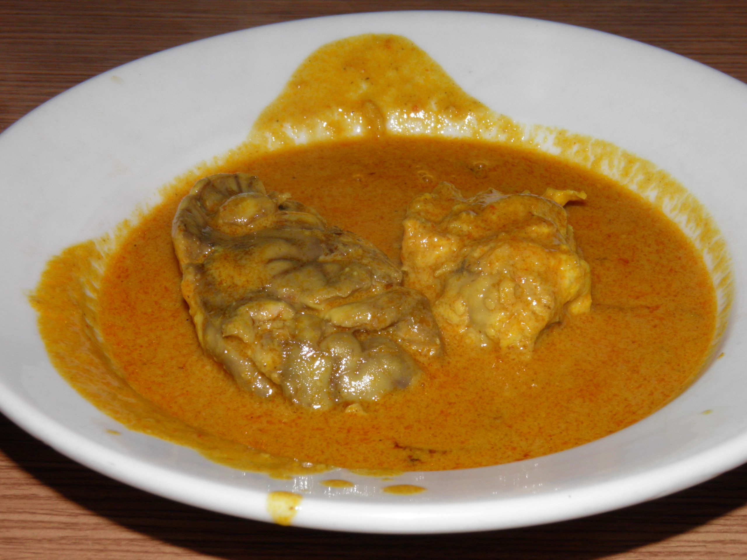 Gulai Ota Cow Brain Curry