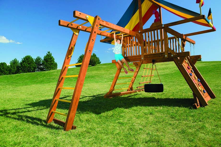 Professional Installation   Rainbow play systems, Backyard ... on Unlevel Backyard Ideas id=37411