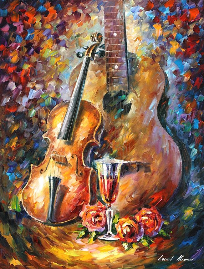 SING MY GUITAR — PALETTE KNIFE Oil Painting On Canvas By