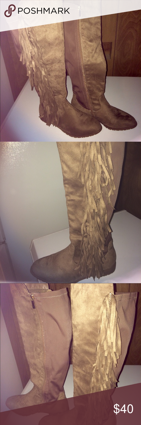53a741c484f Lane Bryant Size 9W fringe boot Almost new lane bryant fringe boot with  stretch panel for
