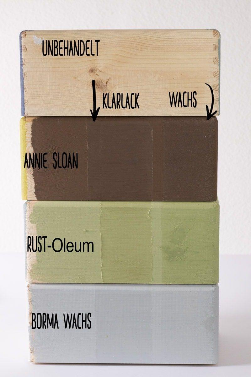 Kreidefarbe kaufen aber welche? Sieben Farben im