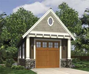Garage shop barn style with living space hwepl67360 for Narrow barn door
