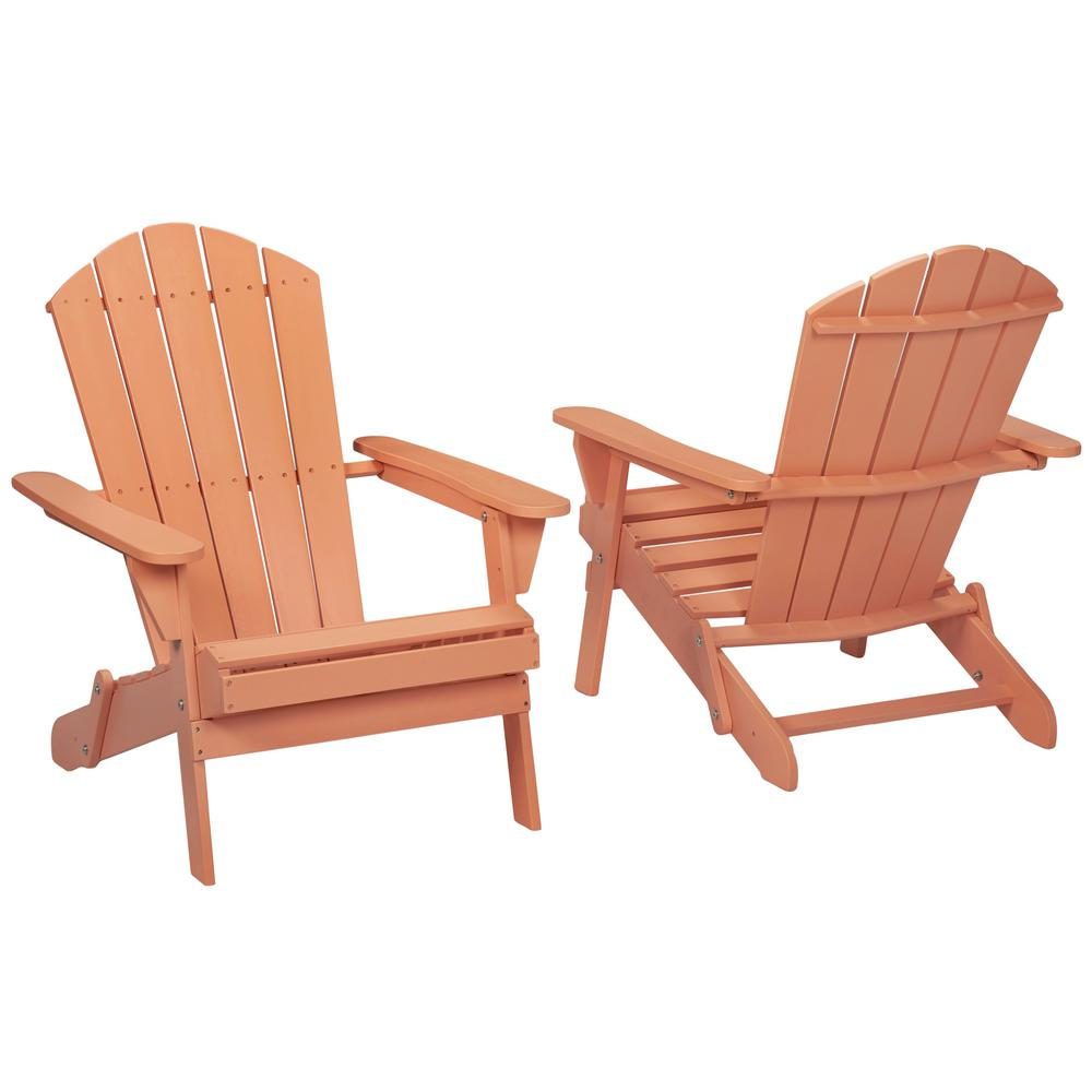 Hampton Bay Nectar Folding Outdoor Adirondack Chair 2 Pack