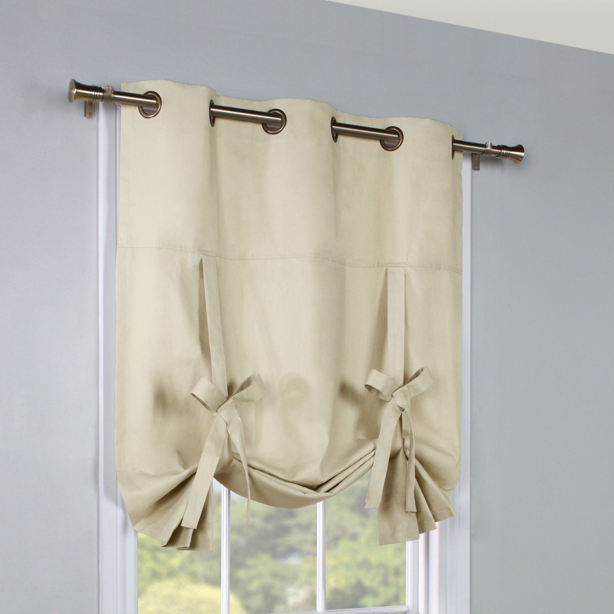 Hopedale Thermal Lined Curtain Panel Tie Up Curtains Curtains Tie Up Shades