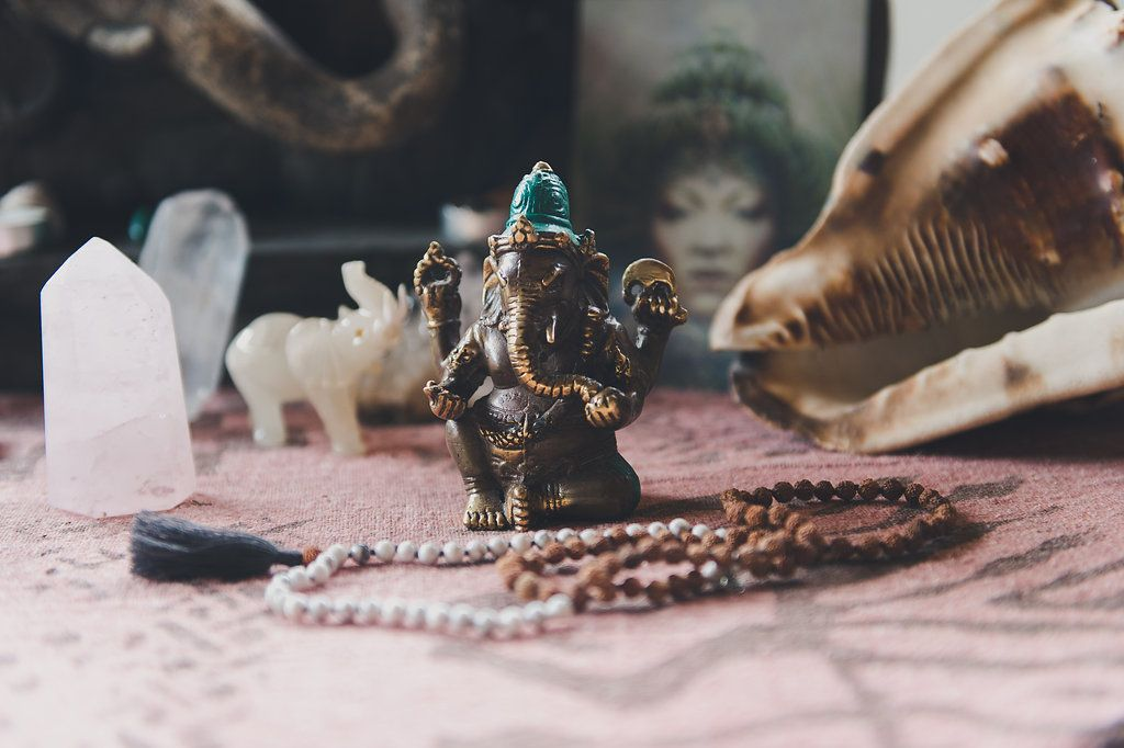 Ganesh is the elephant headed deity, the remover of obstacles, and one of the most sacred Devas (angels) in the Vedic tradition.This statue is made in Western Bali, Indonesia. It's also a loving addition to your altar — a place for you to practice meditation, honour your intention, and manifest new dreams.