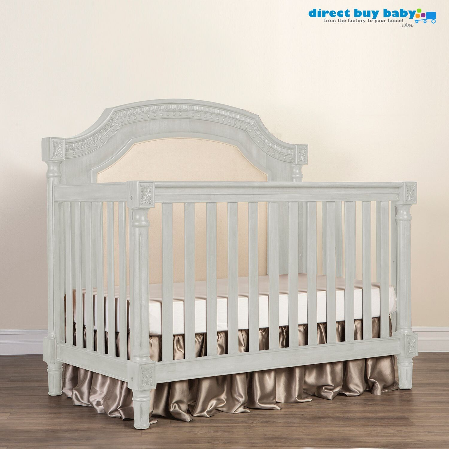 Wooden crib for sale las pinas - The Evolur Julienne Collection Directbuybaby Features A Gorgeous Upholstered Baby Crib For Your Baby Nursery