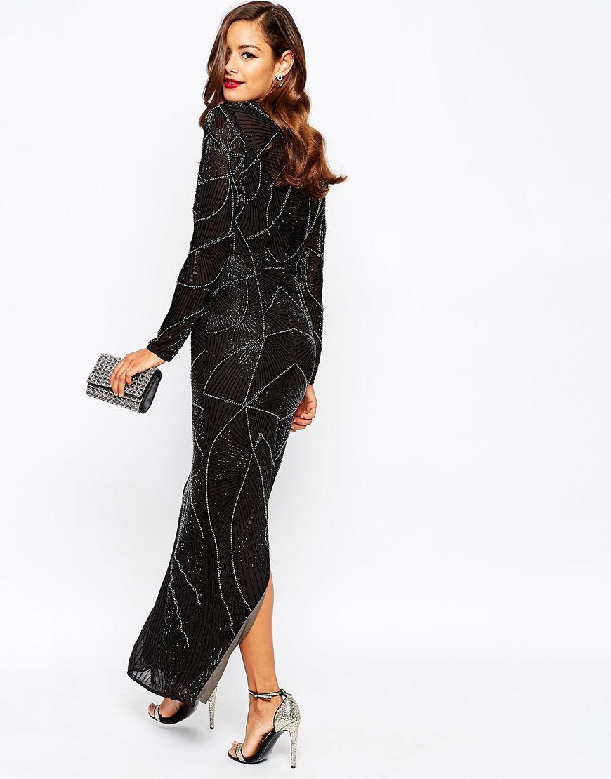 Asos long sleeve dress maxi | Best dress ideas | Pinterest | Maxis ...