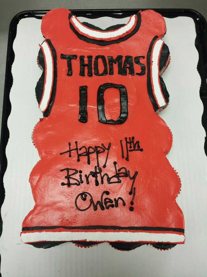 Cupcake Cake Of A Basketball Jersey Things That I Created With 2