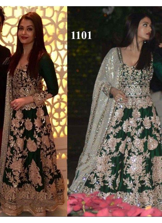 Aishwarya Rai Ambani Party Green Gown Bollywood Dress Pakistani Dresses Indian Gowns