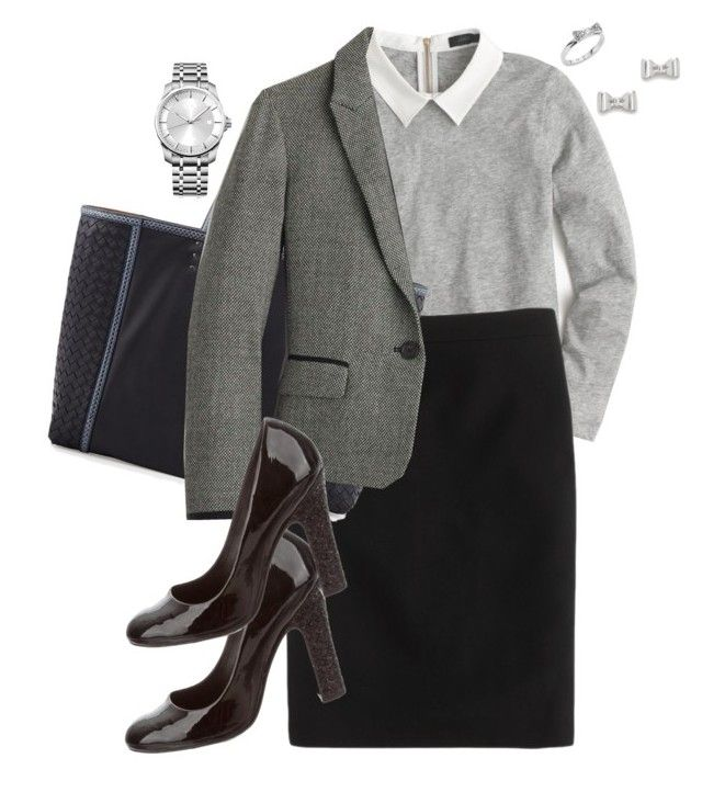 """""""Untitled #1169"""" by ann-boleyn ❤ liked on Polyvore featuring J.Crew, Bottega Veneta, Tory Burch, Marc by Marc Jacobs, Calvin Klein and Kate Spade"""