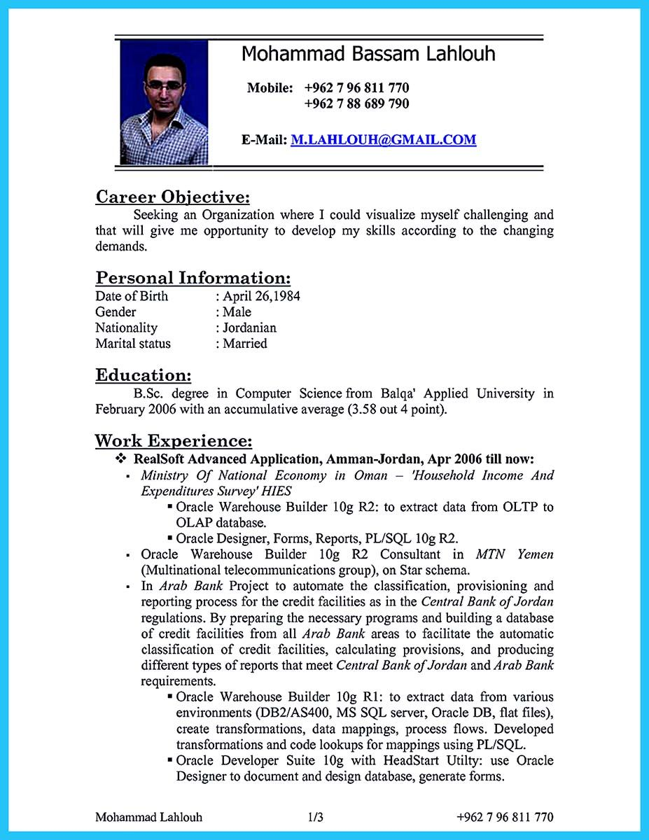 Nice High Impact Database Administrator Resume To Get Noticed Easily