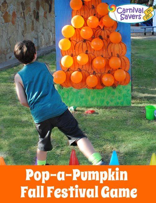 halloween parties pop a pumpkin fall outside game - Halloween Outside Games