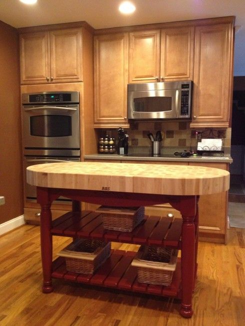 Butcher Block Island from Homegoods Home Mobile kitchen island, Kitchen island, Home
