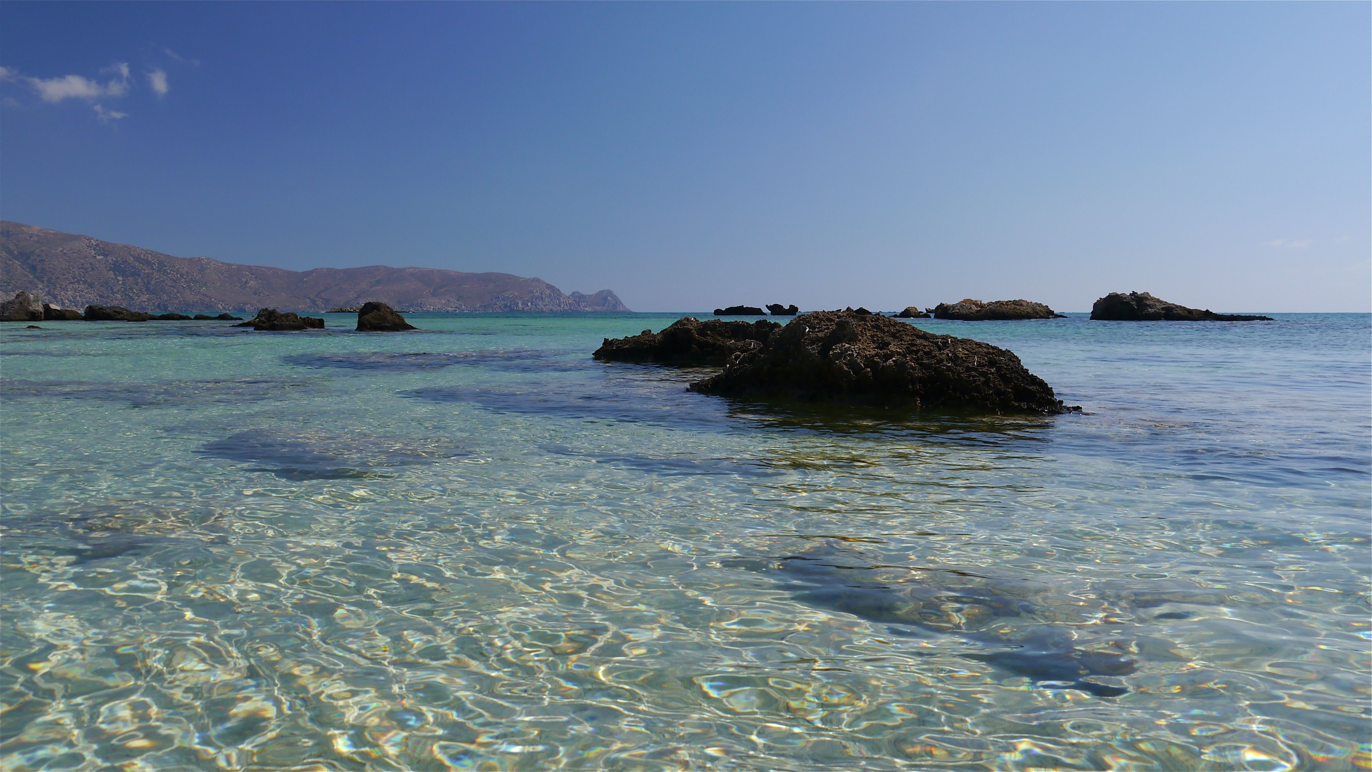 Crystal clear water. Elafonisi, Crete