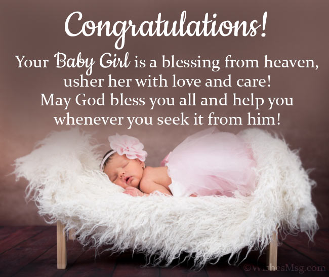 Religious Congratulations Message for Baby Girl