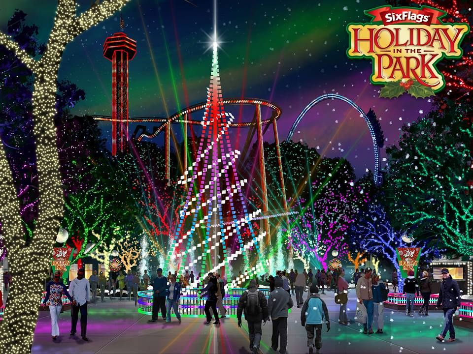 It S The Most Wonderful Time Of The Year As Six Flags Magic Mountain Celebrates Holiday In The Park F Six Flags Great Adventure Water Theme Park Adventure Park
