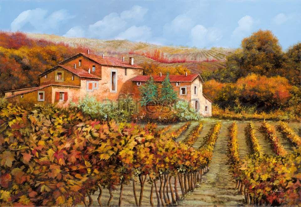 Сладких, картинки с деревенским пейзажем в стиле прованс вино