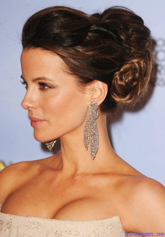 kate beckinsale's bun: messy thick updo. | hair | pinterest | kate