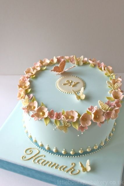 Blossom Butterfly Birthday Cake KitchenRecipes Pinterest