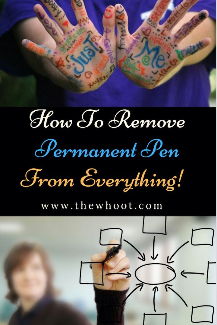 How to remove permanent marker from everything the whoot