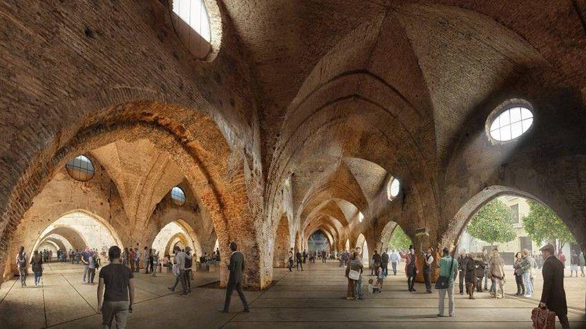 Las Atarazanas de Sevilla llevan 20 años cerradas y pendientes de rehabilitación pese a ser un ejemplo soberbio de arquitectura civil donde ahora rueda  Juego de tronos