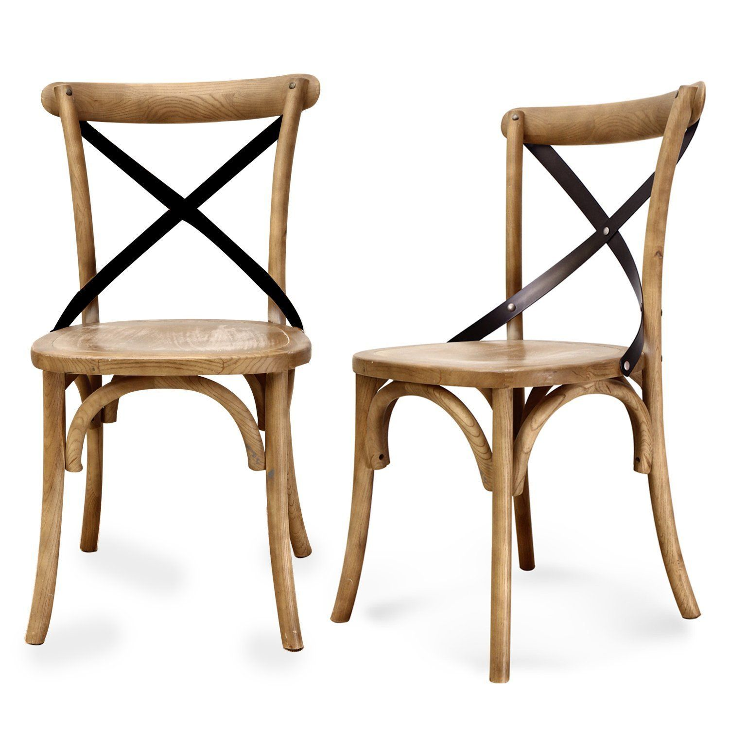 1bde3f1d4dc3 Amazon.com - Joveco Vintage Style Solid Wood Dining Chair - Set of 2 ...