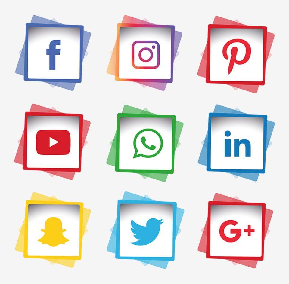 Conjunto De Iconos De Redes Sociales Imagenes Predisenadas De Redes Sociales Iconos Sociales Iconos De Los Medios Png Y Vector Para Descargar Gratis Pngtre Simbolos De Redes Sociales Iconos De