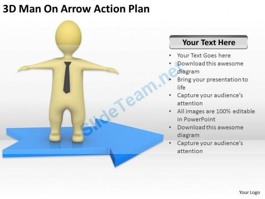 3D Man on Arrow Action Plan Ppt Graphics Icons Powerpoint - action plans templates