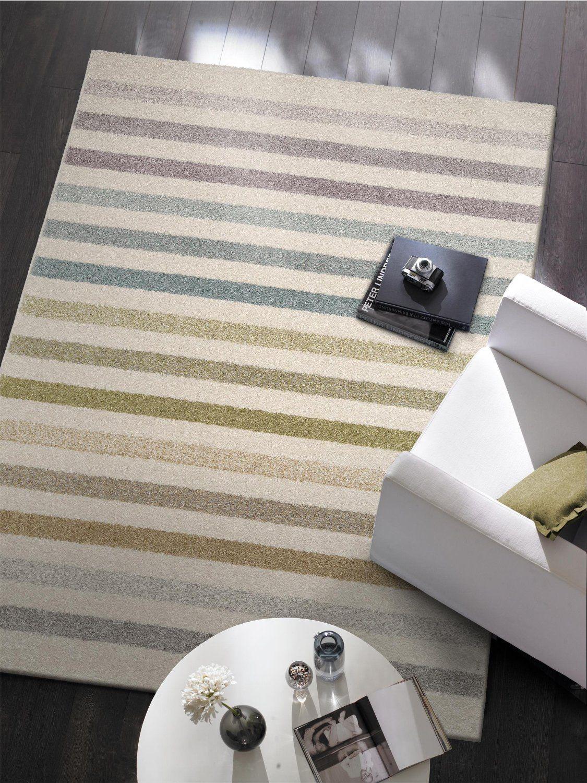 benuta Teppiche: Moderner Designer Teppich Pastel Striped Beige ...