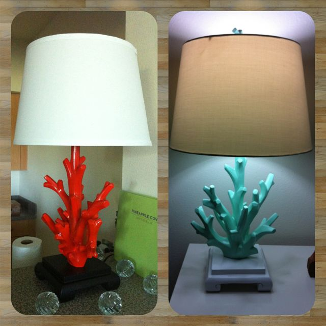 Awesome Home Goods Lamps! #coral