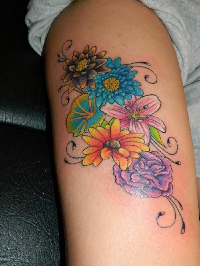 7296c25d9 January Birth Flower Tattoo | December Birth Flower Tattoo | tats ...
