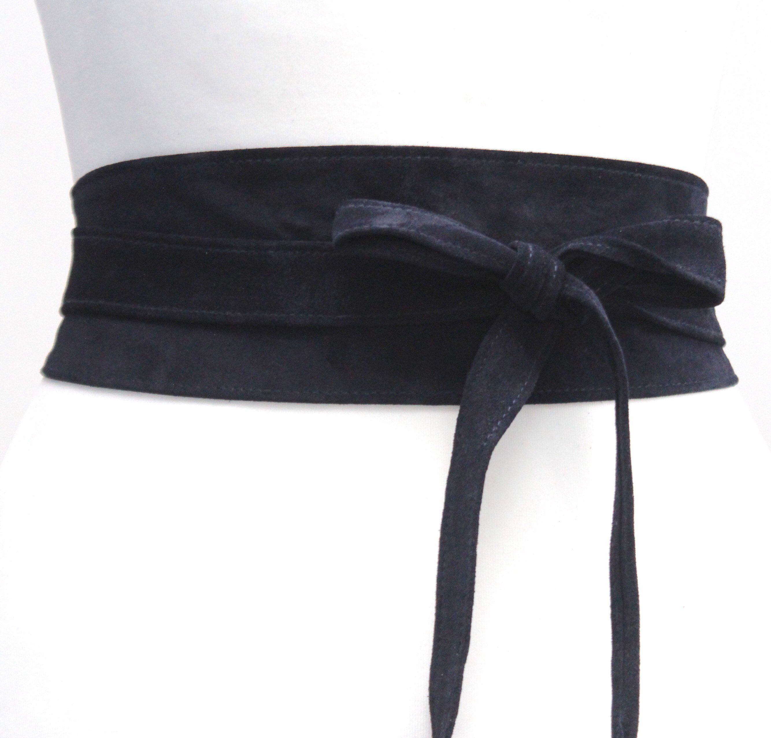 326a96fc6e5 Excited to share this item from my  etsy shop  Navy Suede Leather Obi Belt