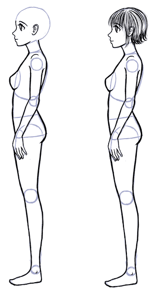 How To Draw Anime Side View Full Body Profile Manga Tuts Anime Side View Anime Drawings Drawing People