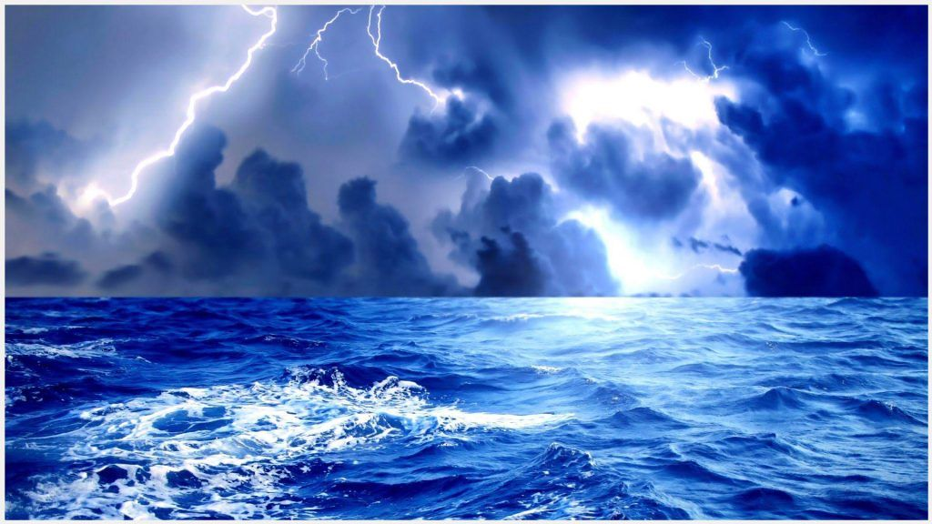 Thunder Lightning Sea Storm Wallpaper Thunder Lightning