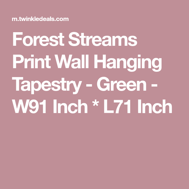 Forest Streams Print Wall Hanging Tapestry - Green - W91 Inch * L71 Inch