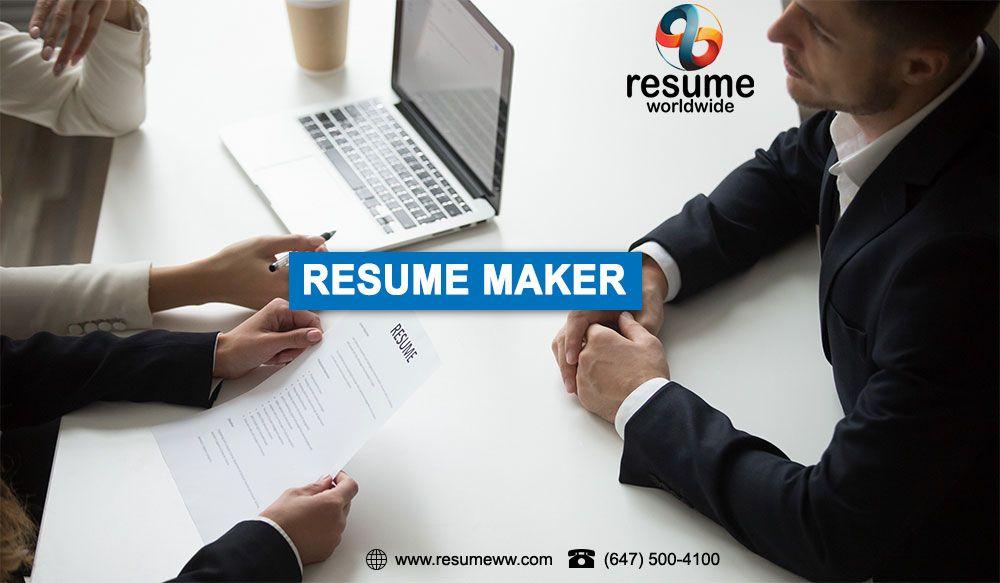 Resume Maker Toronto In 2020 Resume Maker Resume Writing Services
