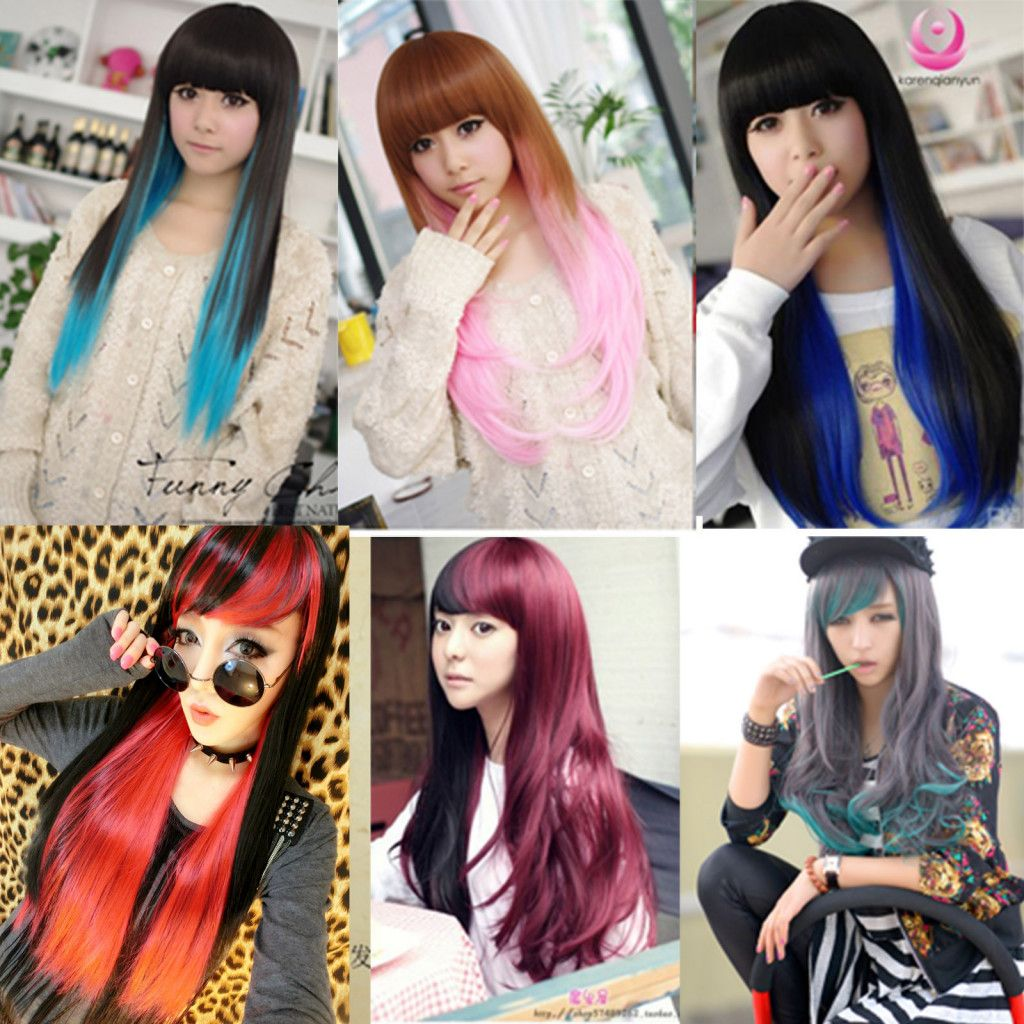 Sexy Fashion Women Girls Long Curly Wavy Full Wig Cosplay Wigs Synthetic  Hair  d27ce7a34c